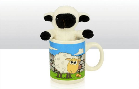 Mini Sheep Mug with Soft Toy Black Face Sheep