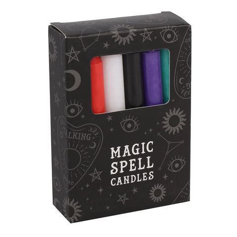 12 Multi coloured Magic Spell Candles