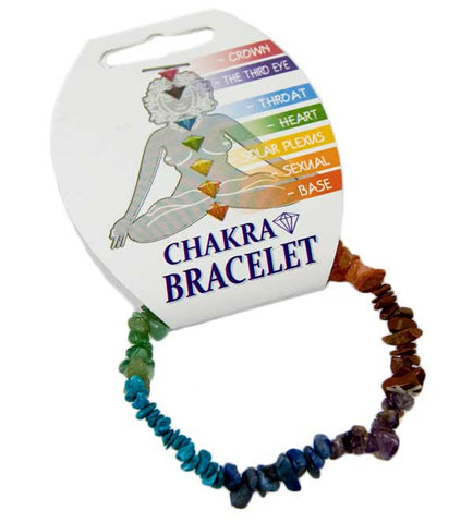 Chakra Small Chip elasticated Bracelet
