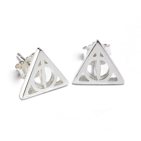Harry Potter - Sterling Silver Deathly Hallows Stud Earrings