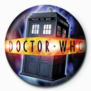 Doctor Who Tardis Button Pin Badge 25mm
