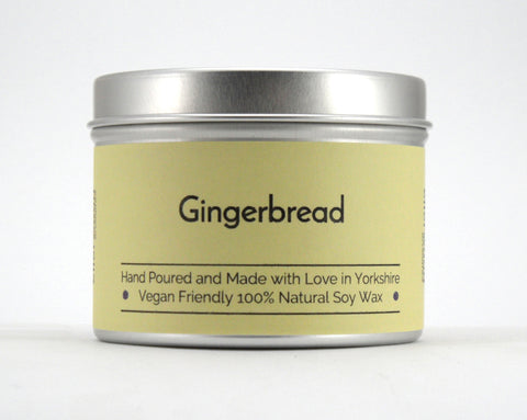 Gingerbread Soy Wax Tin Candle