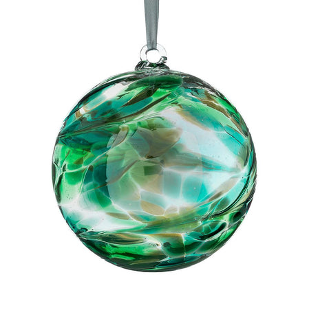 Glass Hanging Birthstone Ball May Emerald 10cm