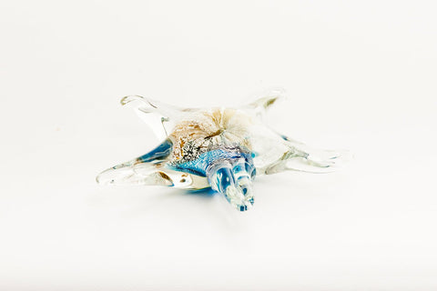 Glass Star Fish Ornament