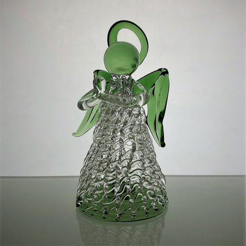 Glass Keepsake Angel - Green
