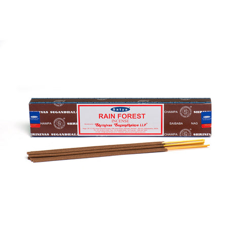 Satya Rain Forest Incense Sticks 15g from Mystical and Magical Halifax