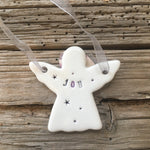 Ceramic Hanging Angel Hand Made in Yorkshire from Mystical and Magical