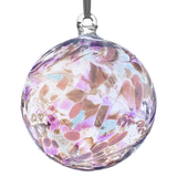 Glass Hanging Birthstone Ball June Pearl 10cm
