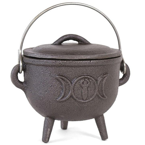 Cast Iron Cauldron Triple Moon from Mystical and Magical Halifax