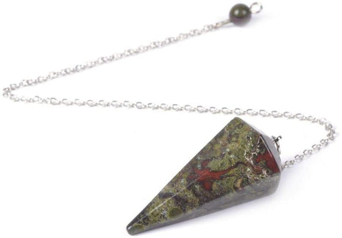 Jasper Dragon's Blood Crystal Gemstone Dowsing Pendulum