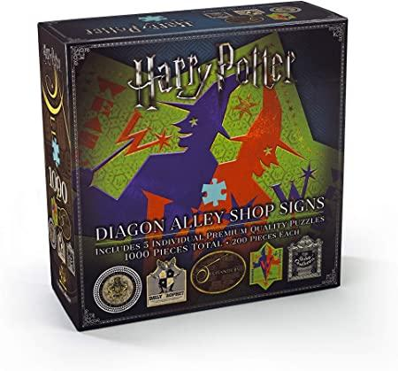 Harry Potter Diagon Alley Shop Signs five 200pc Jigsaws
