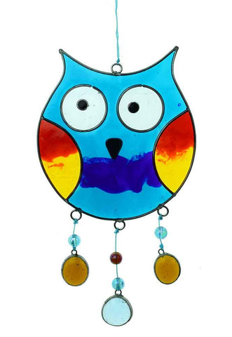 Resin Suncatcher Multicolour Owl and Nuggets
