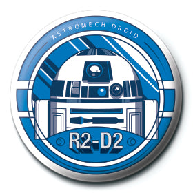 Star Wars R2-D2 25mm Button Badge