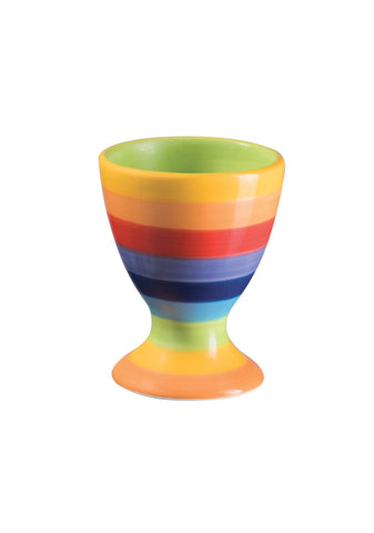 Rainbow Egg Cup Hand Painted