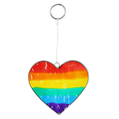 Rainbow Heart Resin Suncatcher with Complimentary window sucker from Mystical and Magical Halifax