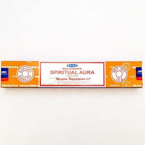 Satya Spiritual Aura Incense Sticks 15g from Mystical and Magical Halifax