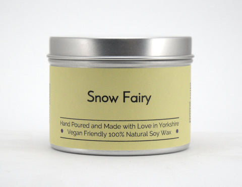 Snow Fairy Soy Wax Tin Candle