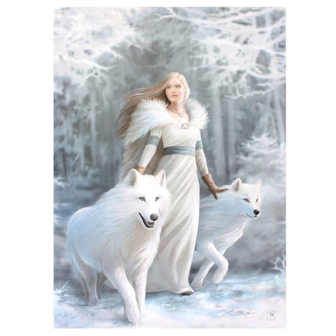 Winter Guardian Canvas Plaque by Anne Stokes