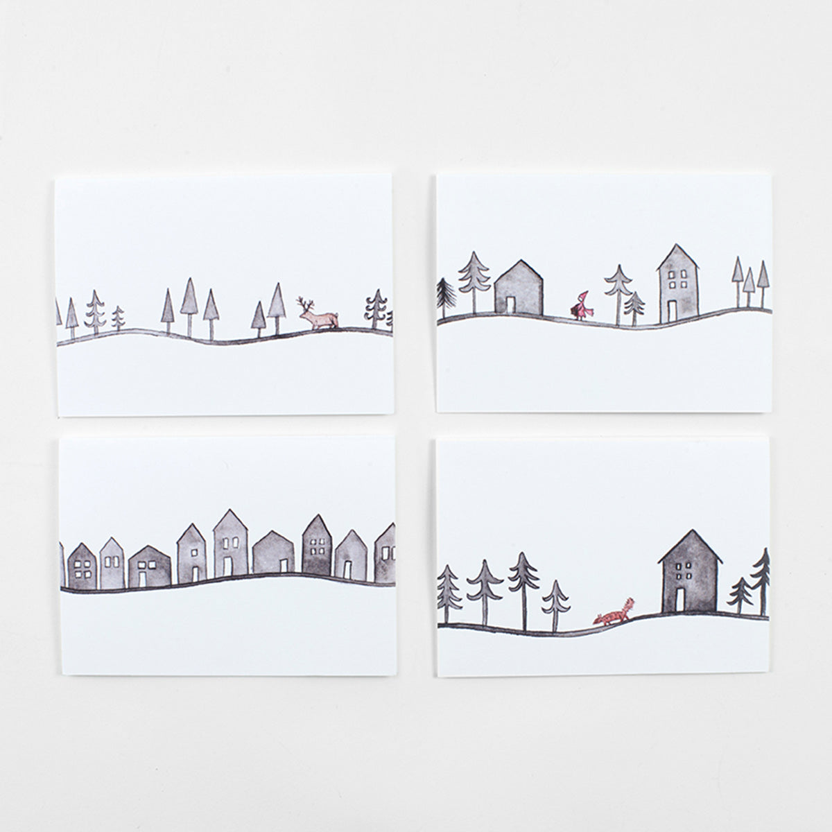 Set of 8 Christmas Cards designed by Carlie Forsyth exclusively for Freyr & Fell