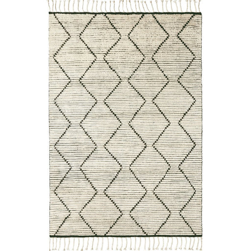 Armadillo and Co Nala Rug in Natural - handknotted- diamond patterned - tassles | nordic living | timeless style | monochrome | responsibly sourced | hand knotted | artisan