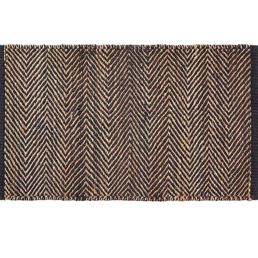 Armadillo and Co Serengetti weave entrance mat - charcoal and natural weave | herringbone rug | monochrome | responsibly sourced | ethically produced | handwoven | artisanal | slow living | nordic living | timeless style