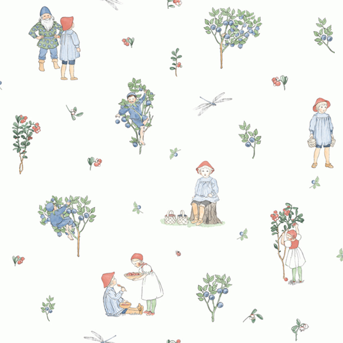 Boråstapeter Putte Wallpaper - 6234 - Scandinavian Designers Mini collection - Nordic Living | Slow Living - Concept Store | Wallpaper - Vintage Wallpaper - Interior Design - Putte
