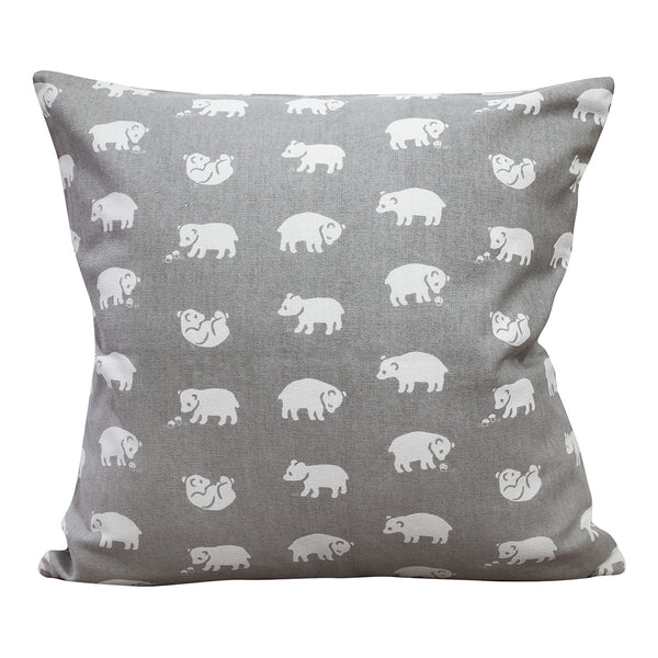 Fine LIttle Day - Nursery Decor - Organic Cotton - Pure Cotton - Bjorn Cushion Cover Grey - Natural Home - Scandinavian Design