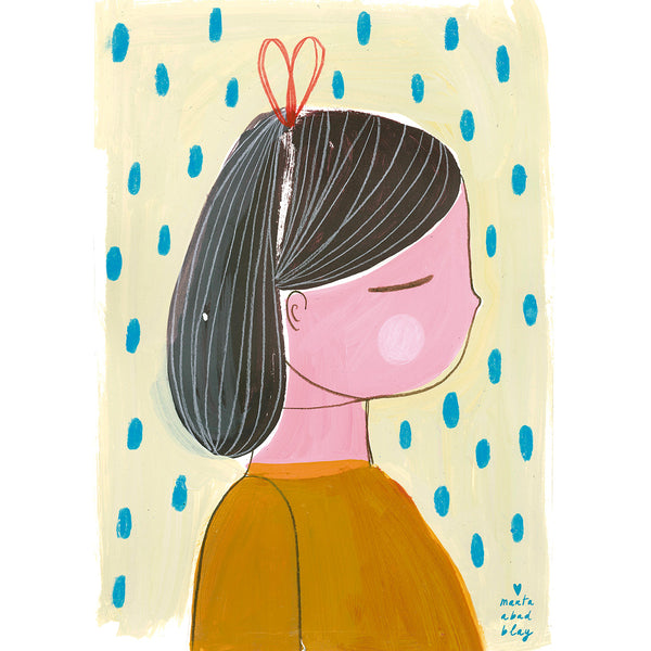 Girl 1 Print Marta Abad Blay - Illustrator - Artwork - Childrens Artwork - Nursery Decor - Girl Print - Marta Abad Blay - Natural Home - Sustainable Design