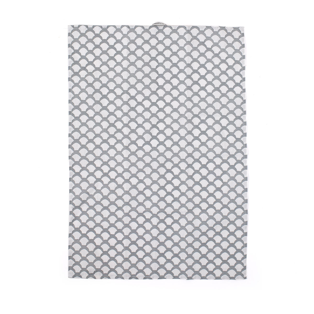 Iris Hantverk Pure Linen Tea Towel in Saras Roof - Neutral Grey | Traditional Nordic Pattern | Slow Living | Authentic Living | Nordic Influence | Grey and White | Swedish Design - Scandinavian Living - Tea Towel