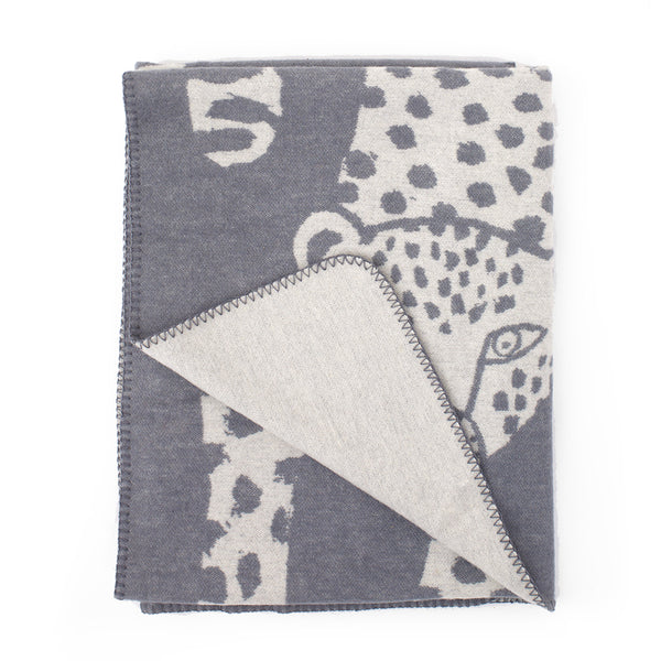 Kauniste - Leopardi Blanket - Scandinavian Design - Finnish - Nordic Living - Blanket - Grey | Freyr and Fell