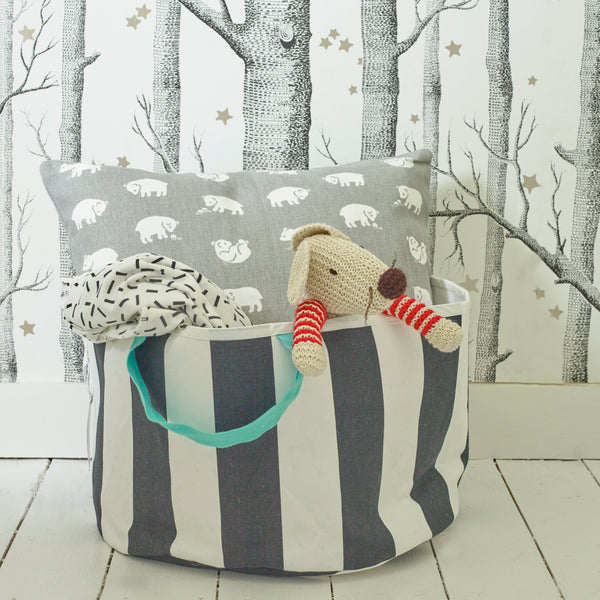 Wildfire Shallow Storage Basket - Stripe Storage Basket - Wildfire - Child and Baby - Natural Home - Organic Baby - Eco Friendly
