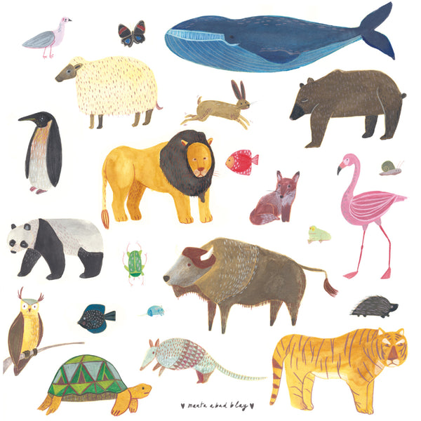 Marta Abad Blay Animal Print - Illustrator - Marta Abad Blay -Children's Prints - Kids Decor - Child Bedroom - Artwork - Colourful Artwork