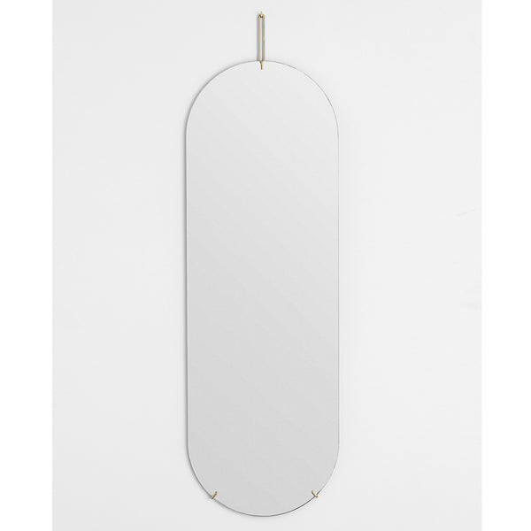 Moebe Copenhagen - Tall Wall Mirror - Frameless Mirror - Danish Design - Brass