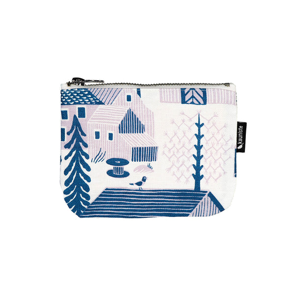 Mökkilä Blue Kaunite Make Up Bag - Finnish Design - Scandinavian Design