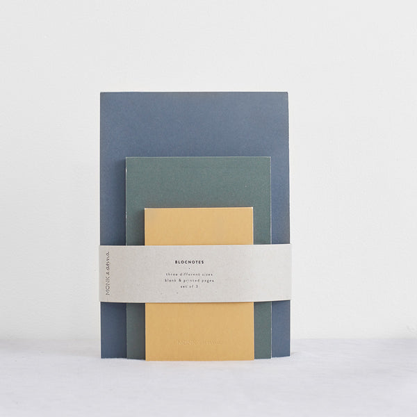 Blocnote set of 3 Notebooks