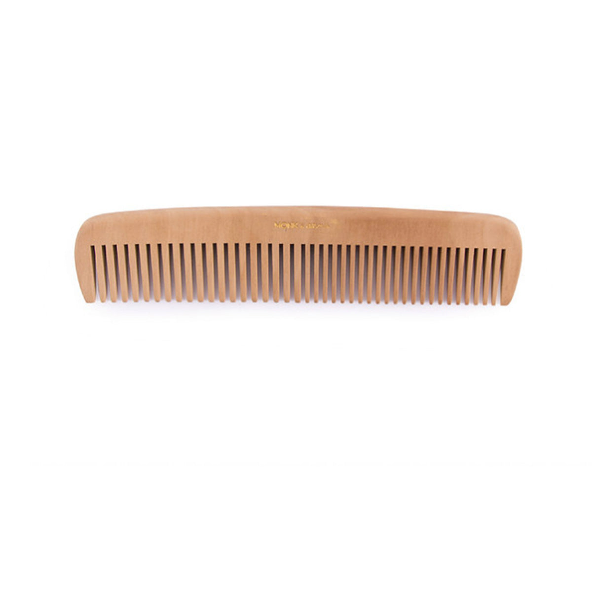 Natural Wooden Hair Comb With Pouch - Monk & Anna - Natural Beauty - Hair Comb - Sustainable Design - Natural Bath - Organic Baby