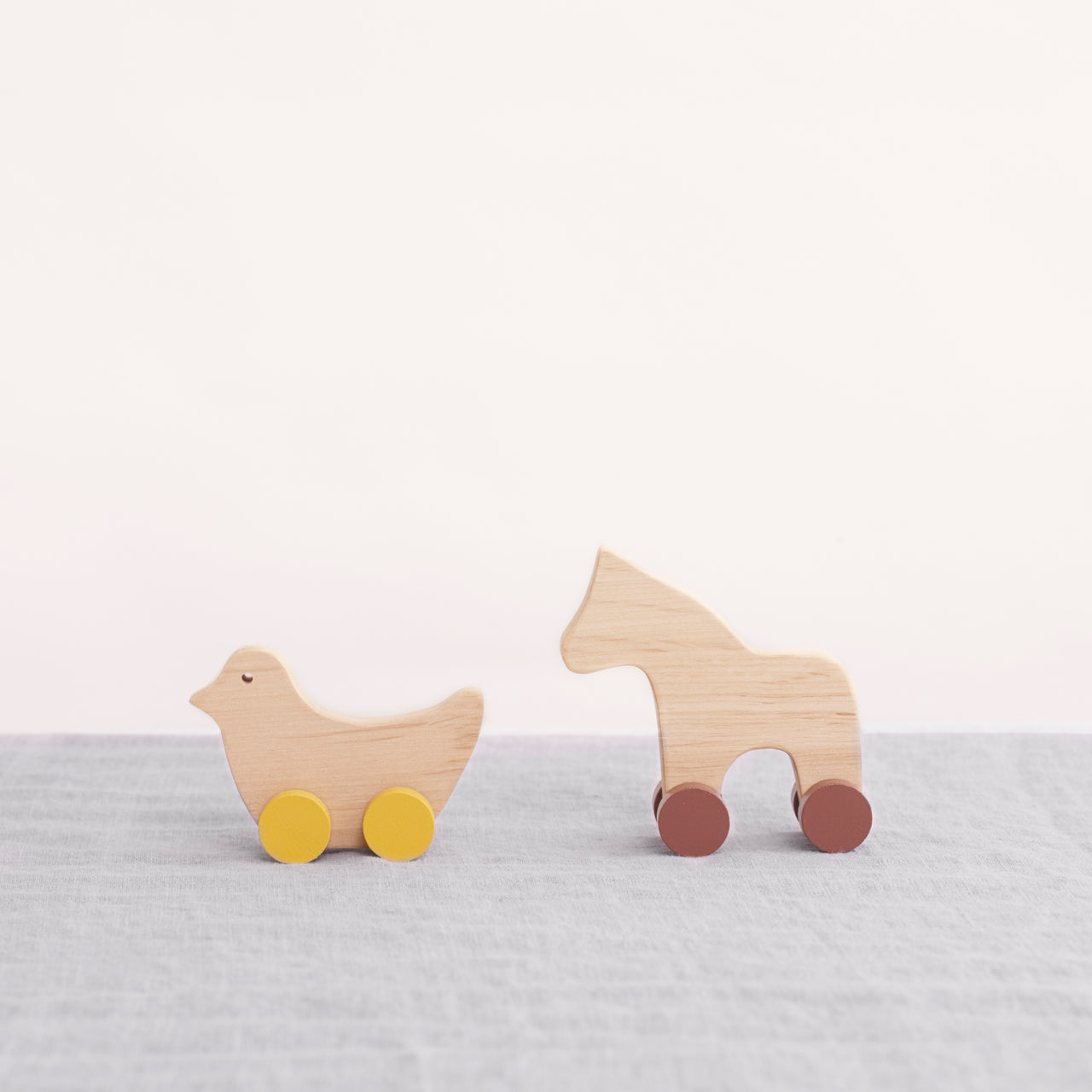Pinch Toys - Wooden Toys - Horse and Bird - Eco Toys - Organic Toys - Wooden Love - Natural Home - Childhood - Wooden Toys - Nordic Toys - Handmade Toys - Handcrafted