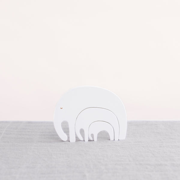 Pinch Toys - Wooden Toys - Elephant Puzzle White - Wooden Love - Natural Home - Childhood - Wooden Toys - Nordic Toys - Wooden Elephant - Handcrafted