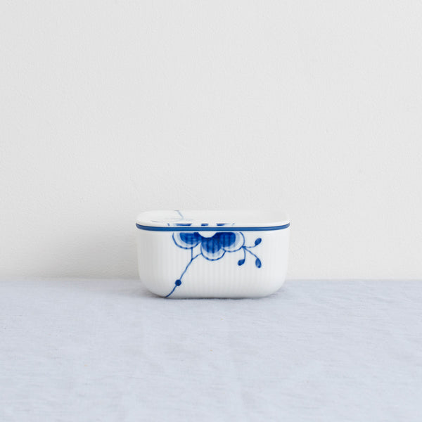 Royal Copenhagen Bluted Mega Butter Dish - Danish Design - Royal Copenhagen - Porcelain - Butter Dish - Blue Fluted Mega Jar