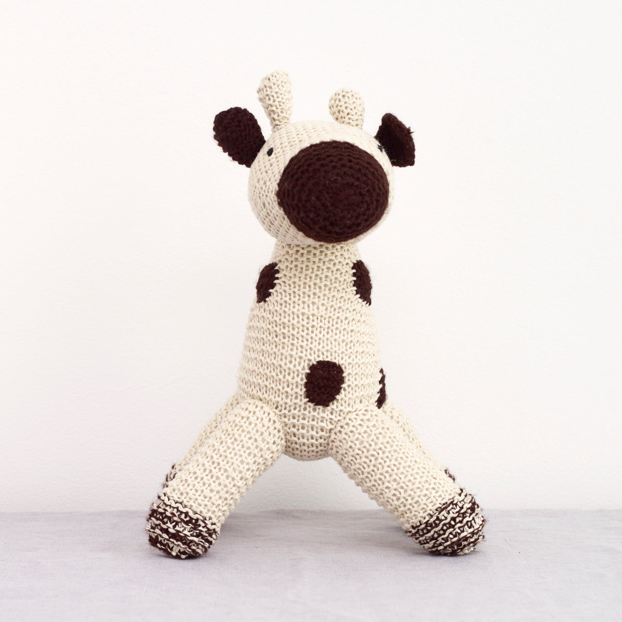 Hand Knitted Animal - Ursula Von Giraffe  - handmade - Zimbabwe - natural home - natural living - toy animals - knitted animals - baby and child - little ones - animal toys