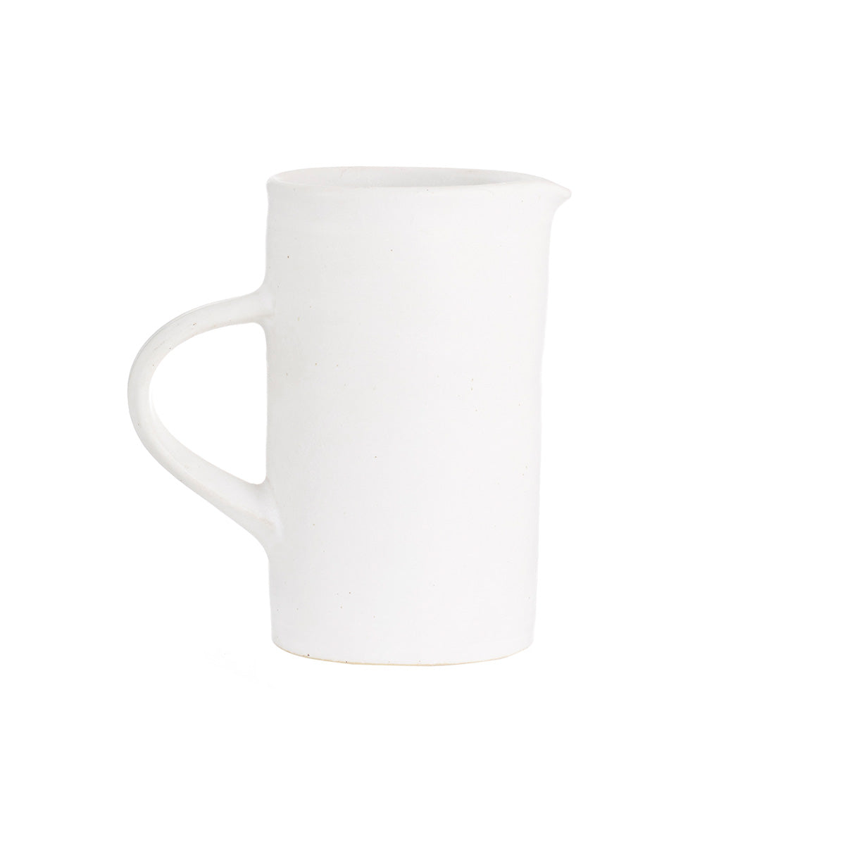 White Ceramics - Stoneware - Hand Thrown - Ceramics - Artisan - Concept Store - Medium Jug - White Ceramic Jug