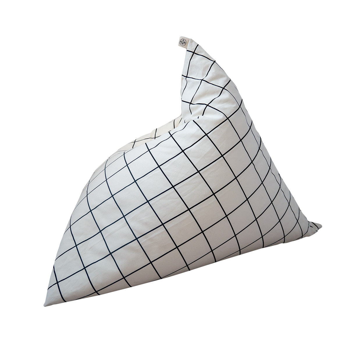 Wildfire Teepees Grid Pyramid Bean Bag - Wildfire Bean Bag - Honest Home - Nordic - Organic Baby - Honest Motherhood - Nursery Decor - Baby and Child - Eco Friendly - Handcrafted - Monochrome - Simple Design