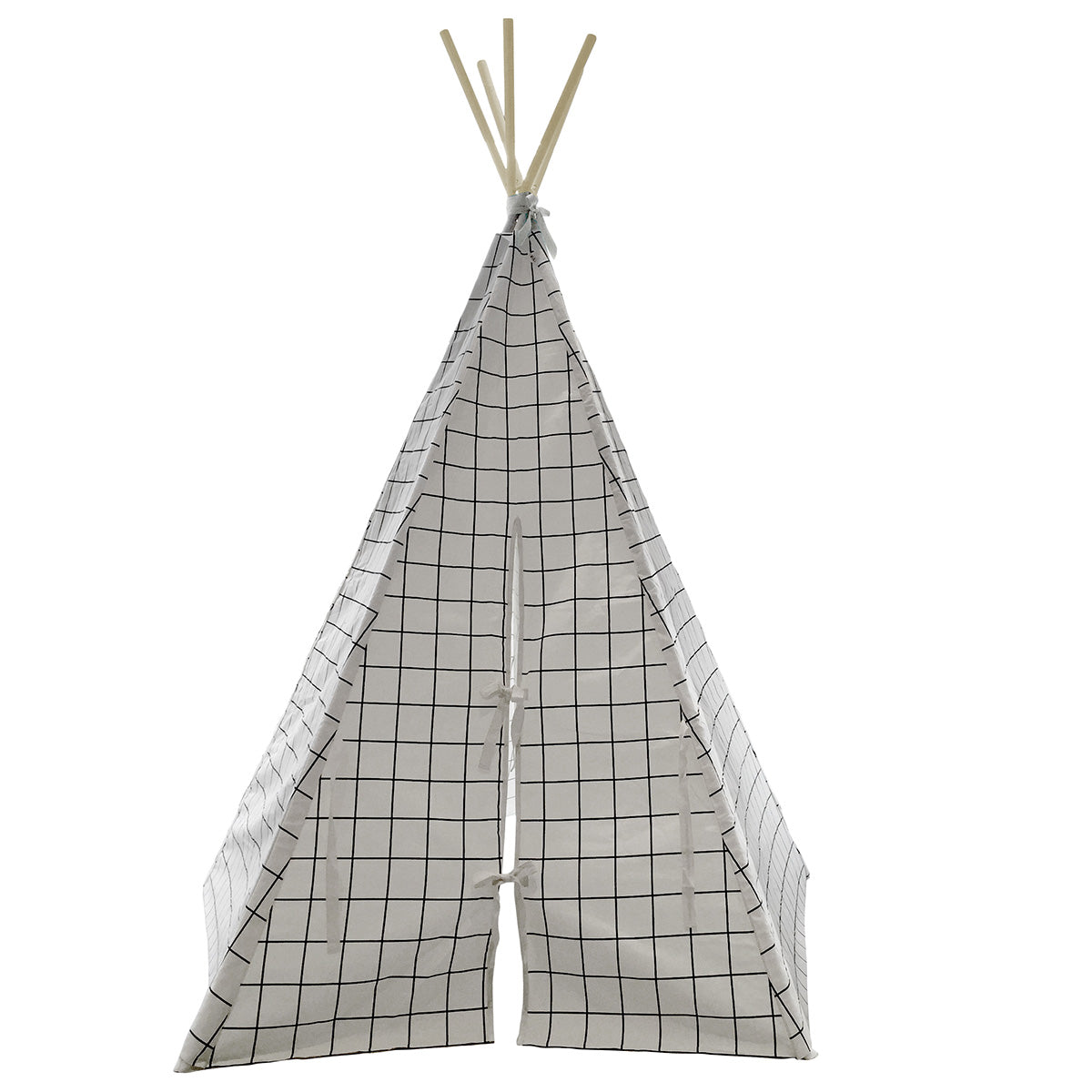 Wildfire Teepees Grid White - Wildfire Teepees - Baby And Child - Shop Small - Natural Home - Organic Baby