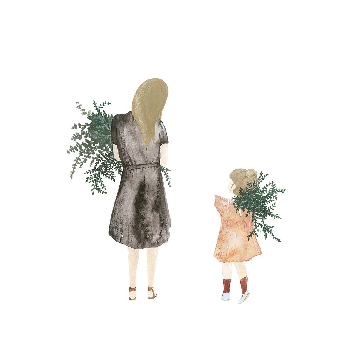 dutch artist - saarmanche - mother and daughter - limited edition print - prints - signed print | family life - slow living