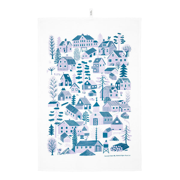 Kauniste Mökkilä Kitchen Blue Tea Towel - Kauniste - Nordic Living - Finnish Brand - Mokkila - Kauniste Finland - Kitchen - Nordic Home | Pure Linen - Natural Materials