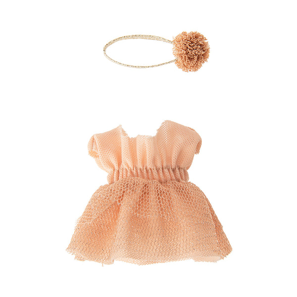 pretty pink tulle ballet costume for the ballet giselle. With matching pom pom hairband, perfect for big sister mouse