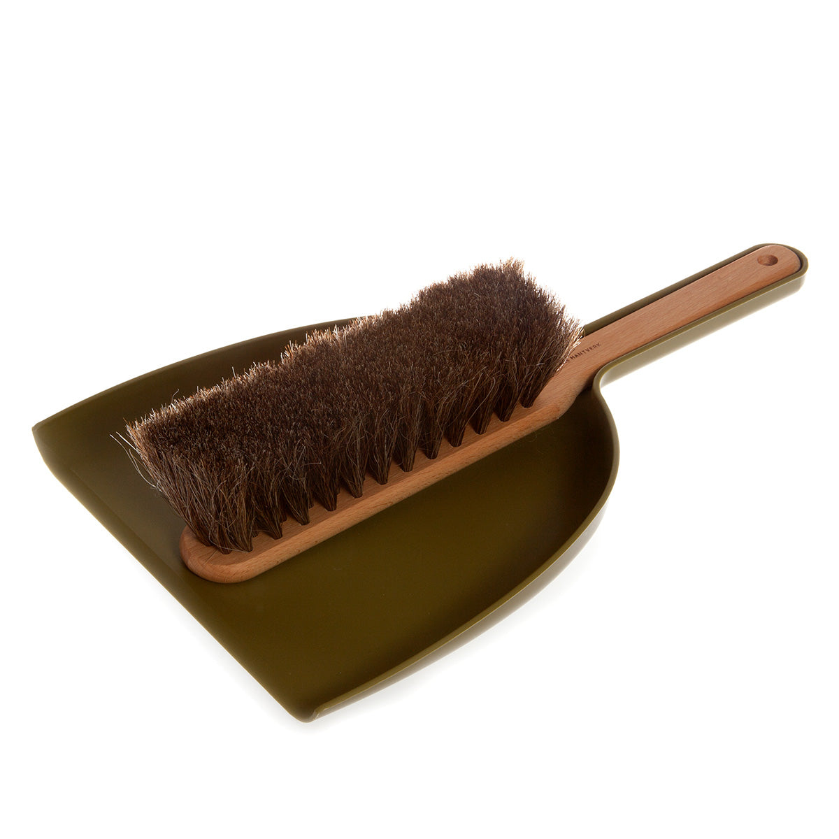 Iris Hantverk - Iris Hantverk Dustpan And Brush Set In Green - Handmade - Beech and Horsehair -Responibly Sourced - Clean Living | Slow Living | Nordic Style | Stylish Kitchen | Natural Materials - Scandinavian Design - Swedish Design