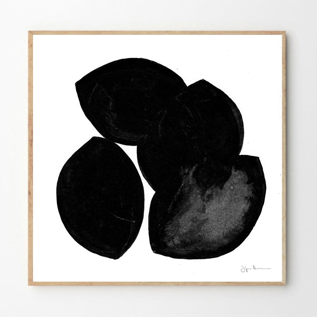 The Leaves VII print - Swedish artist - stone mason - artwork - Jörgen Hansson - the poster club - freyr and fell - danish design - swedish artwork - natural home