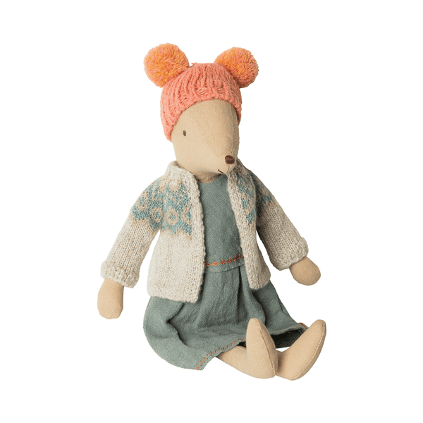 maileg medium winter mouse girl - danish design - freyr and fell - sustainable design - natural home - alternative gift guide - natural Christmas