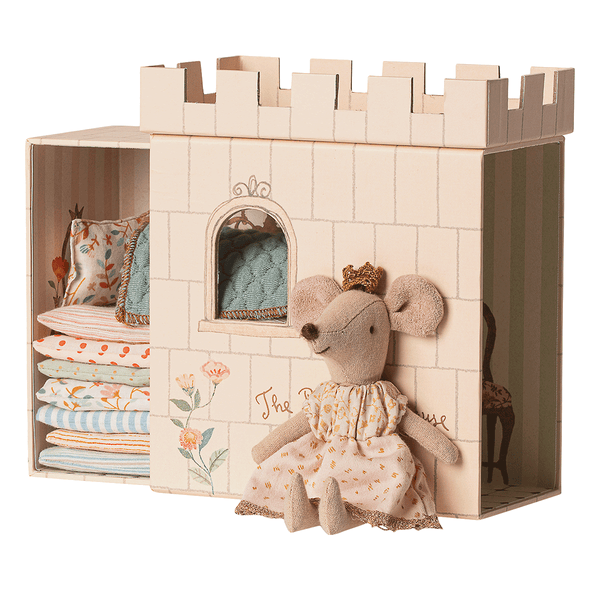 maileg princess and the pea big sister mouse - danish design - freyr and fell - sustainable design - natural home - alternative gift guide - natural Christmas